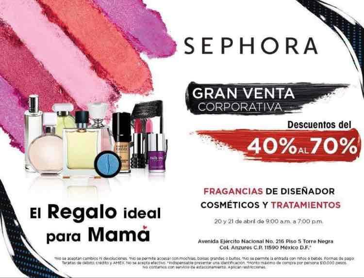 Sephora: Venta Corporativa con descuentos del 40% al 70%