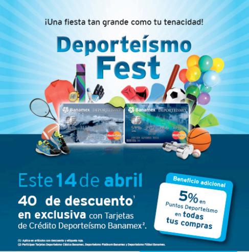 Martí: 40% de descuento en tienda física pagando con tarjeta Deporteismo Banamex