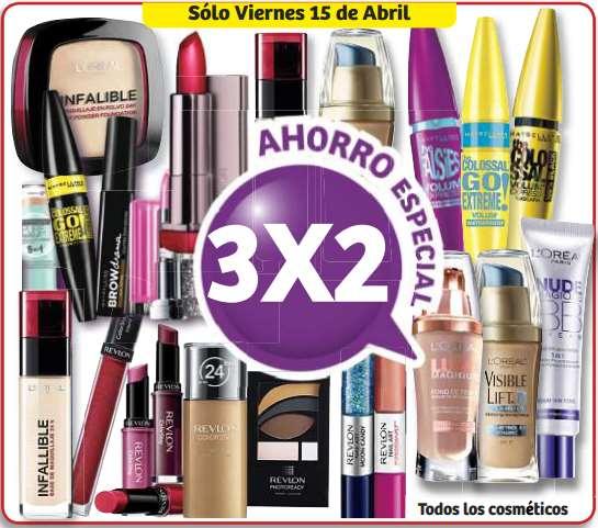 Soriana: 3x2 en cosméticos y todas las ofertas de fin de semana
