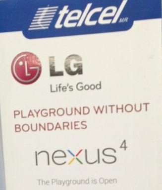 Nexus 4 llega a México con Telcel
