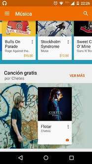 Google Play: cancion flotar de Chetes Gratis
