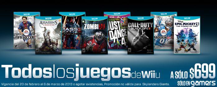 Gamers: todos los juegos de Wii U a $699