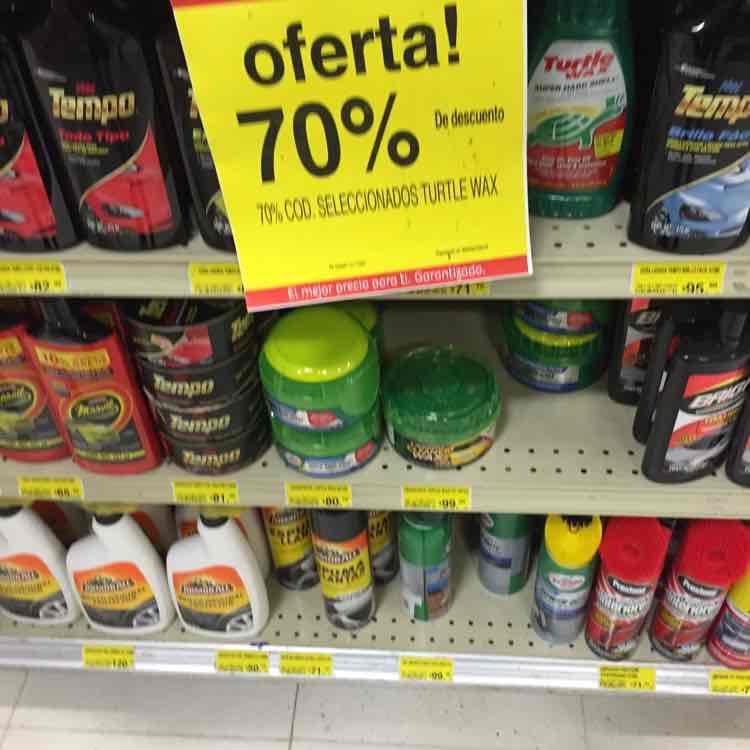 Soriana: 70% de descuento en productos Turtle Wax