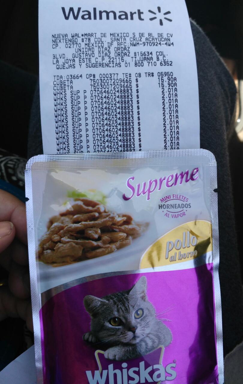 Walmart: Whiskas supreme de pollo $2