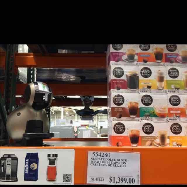 Costco San Luis Potosí: Dolce Gusto 16 cajas y cafetera automática $1,399
