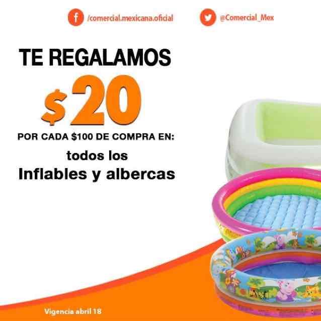 Comercial Mexicana: $20 de descuento por cada $100 de compra en inflables y albercas