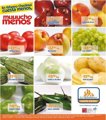 Miércoles de frutas y verduras Chedraui febrero 20: piña $3.90 y más