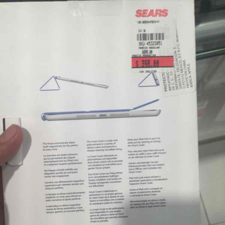 Sears: Smart Cover para iPad Mini a $398