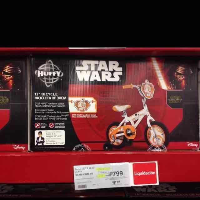 Sam's Club, Gran Patio: Bicicleta R-12 Star Wars