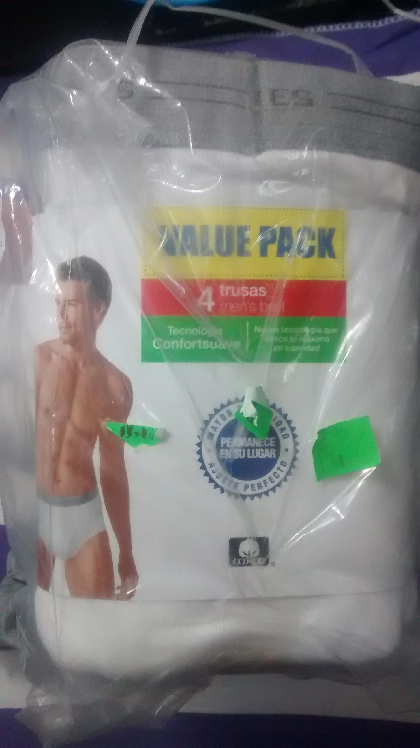 Walmart: 4 Truzas para caballero Hanes o Rimbros a $30
