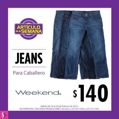 Artículo de la semana en Suburbia: jeans para caballero a $140