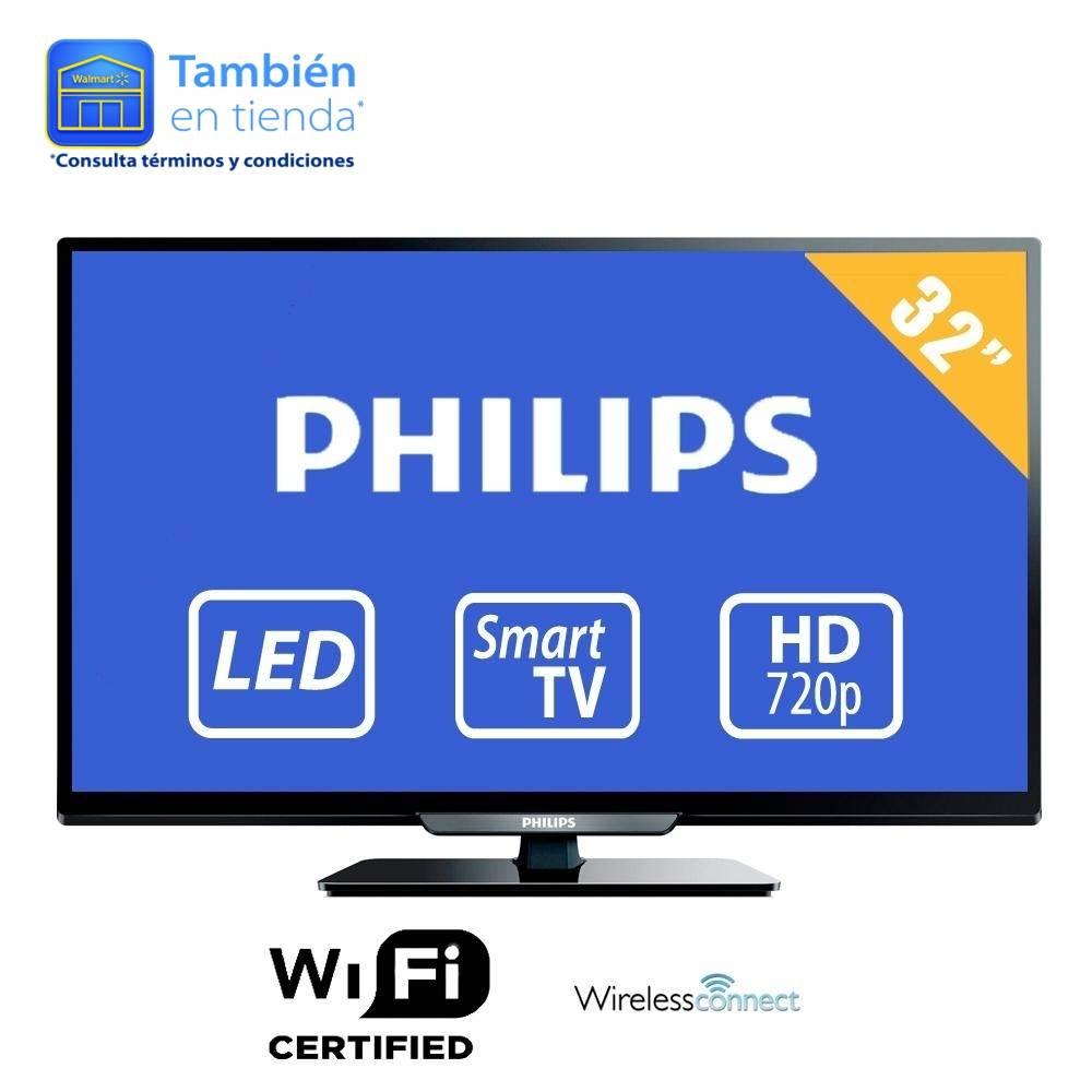 Walmart: Smart TV Phillips, 32' HD a $5,499