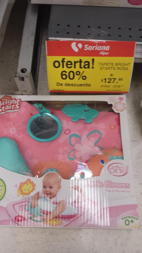 Soriana: tapete para bebe Bright Starts a $127