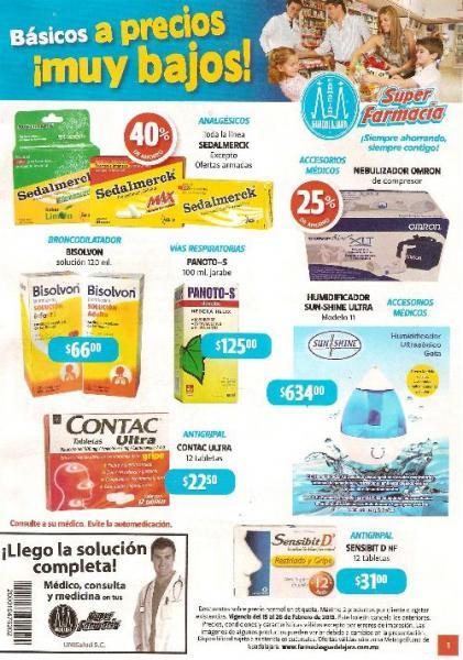 Folleto Farmacias Guadalajara: 3x2 en Naturella, 40% de descuento en Sedalmerck y más