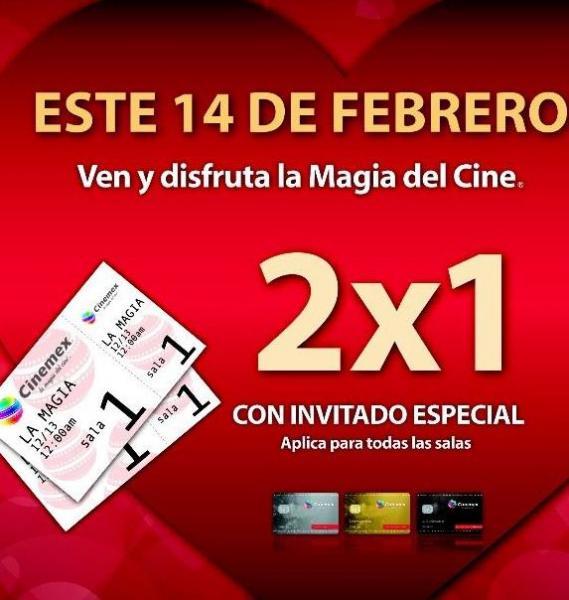 Cinemex: todas las salas al 2x1 con tarjeta de Invitado Especial