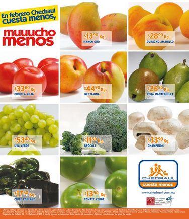 Miércoles de frutas y verduras en Chedraui febrero 13: tomate $3.90, col 90 centavos y +