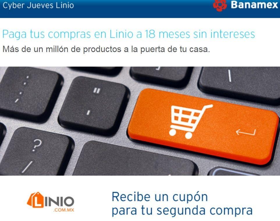 Linio: Cyber jueves reembolso de $600 en compra mínima de $2,500