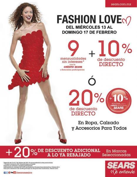 Fashion Love Sears: 20% de descuento en ropa, calzado y accesorios