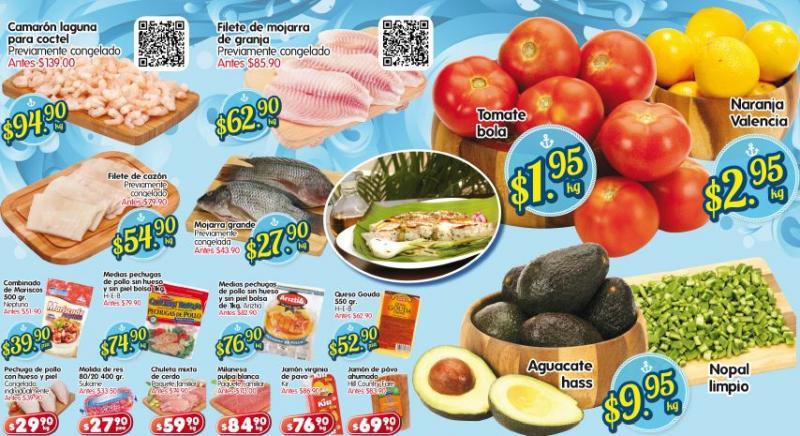 Frutas y verduras en HEB: tomate $1.95, naranja $2.95 y más