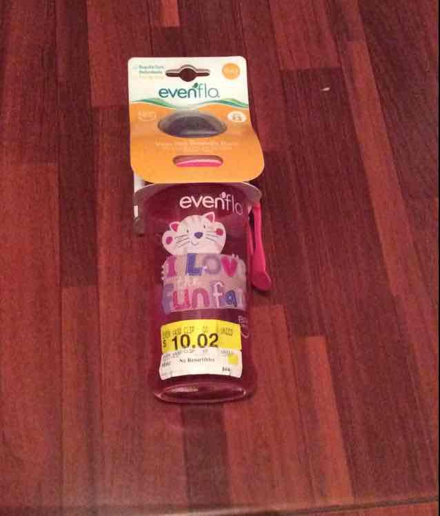 Walmart Plaza Aragón, Ecatepec: vaso de la marca Evenflo a $10.02
