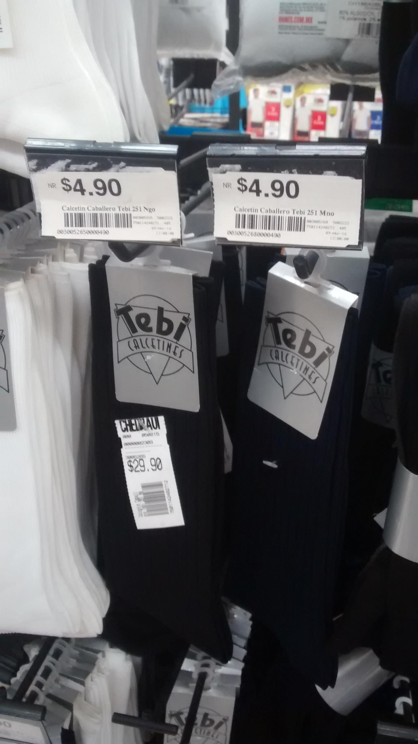 Chedraui Ánfora CDMX: calcetín para caballero a $4.90