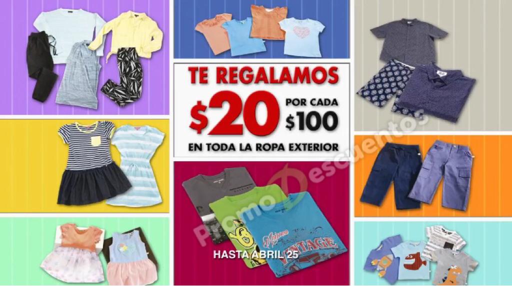 Comercial Mexicana: $20 de descuento por cada $100 de compra en toda la ropa exterior