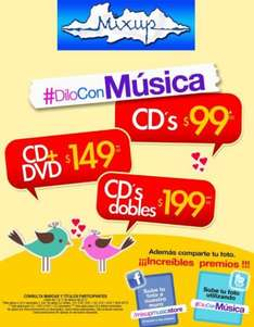 Mixup: todos los CDs a $99, CD + DVD a $149 y CDs dobles a $199