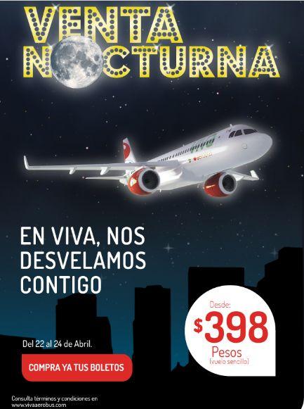 Venta Nocturna Viva Aerobus hasta el 24 de abril