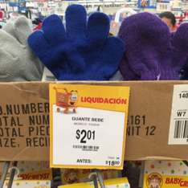 Walmart Colon: Guantes para bebe invierno a $2.01