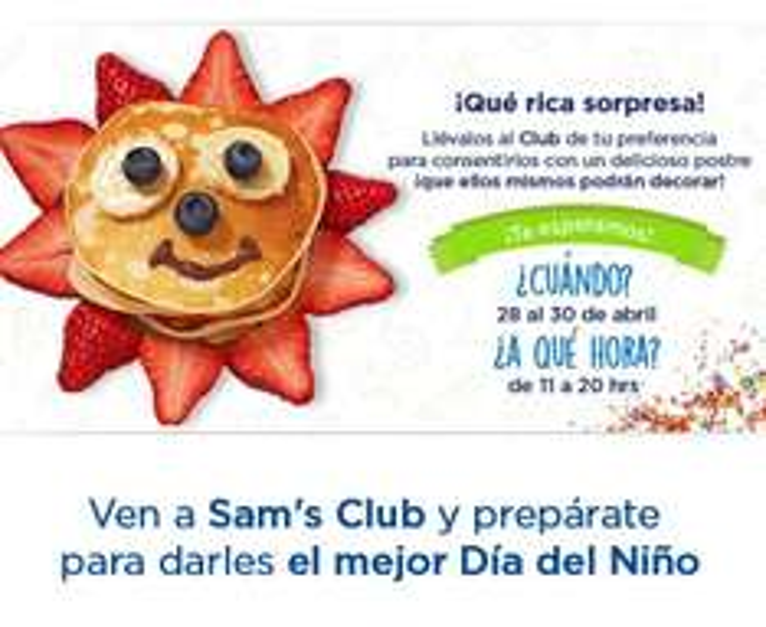 Sam's Club: Ofertas día del niño