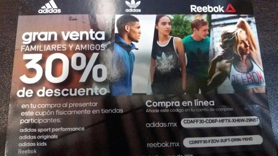 Adidas, Adidas Originals y Rebook: 30% de Descuento en Linea