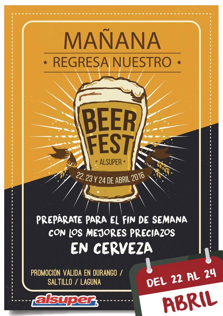 AlSuper Saltillo, Durango, Laguna: Promociones en varias cervezas