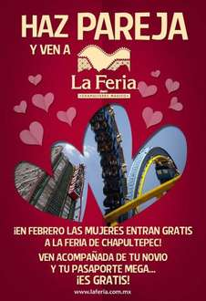 La Feria de Chapultepec: mujeres gratis acompañadas por su novio