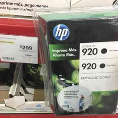 Sam's Club Monterrey: Pack de 2 cartuchos HP 920 a $299