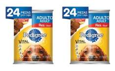 Walmart en línea: 48 latas de Pedigri por $639 ($589 con cupón)