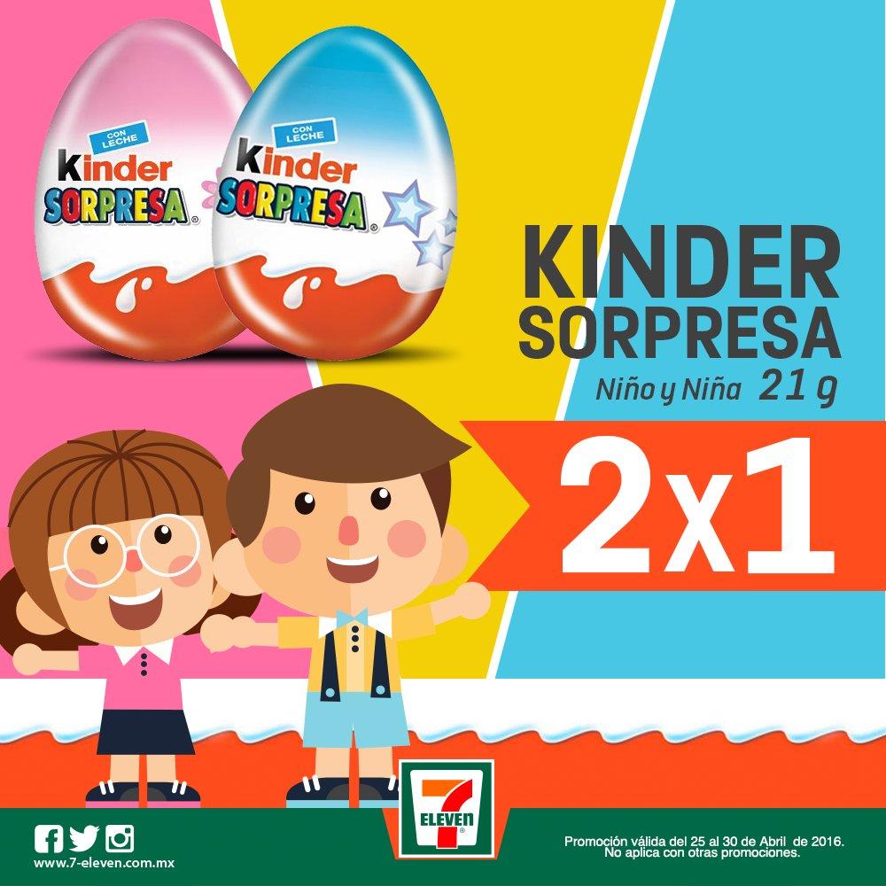 7-Eleven Monterrey: Huevo Kinder Sorpresa al 2×1