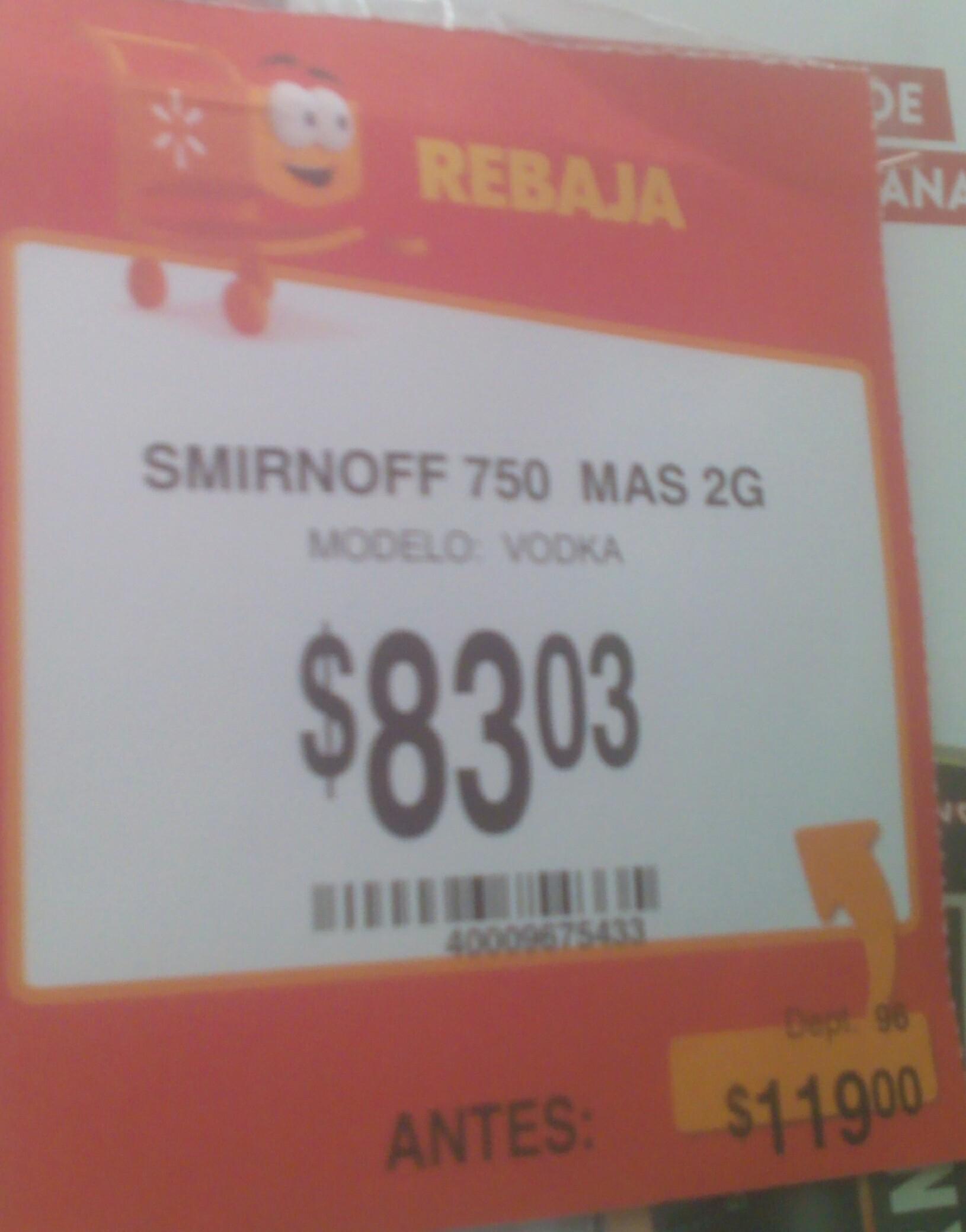 Walmart: Vodka Smirnof a $83 y más