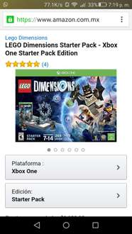 Amazon: LEGO dimensions starter pack para Xbox One a $675