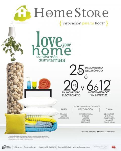 The Home Store: 25% en monedero o 20% en monedero y 6 o 12 MSI