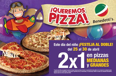 Benedetti's Pizza: 2x1 en pizzas medianas y grandes