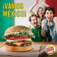Burger King: Whopper Jr gratis comprando papas si México gana en eliminatorias