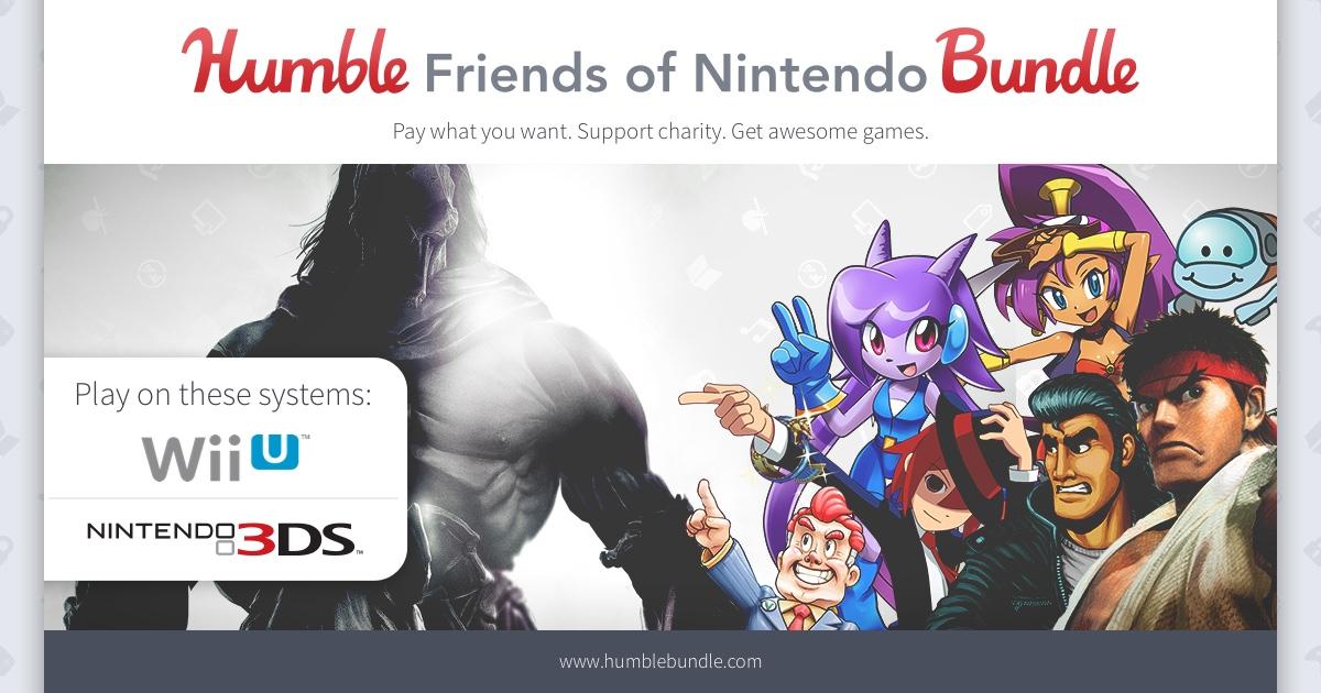 Humble Bundle: Paga lo que quieras por el bundle de Nintendo WII U y 3DS