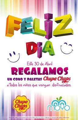 Helados Moyo: Cono Moyo y paletas Chupachups gratis para los peques en su dia