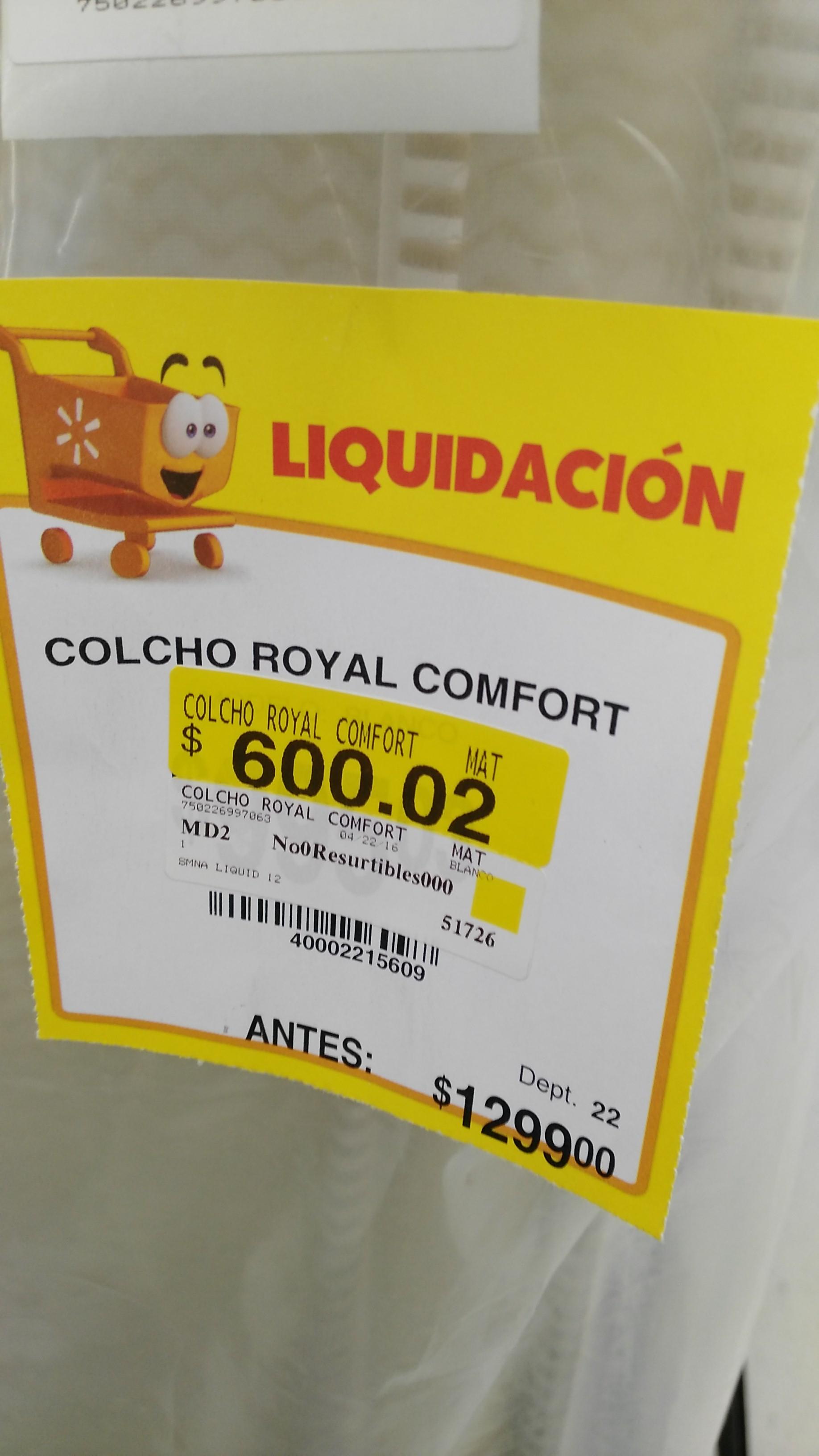 Walmart Pirules: Colchon matrimonial a $600.02