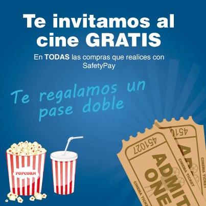 Boleto doble para el cine gratis pagando con SafetyPay en cualquier tienda