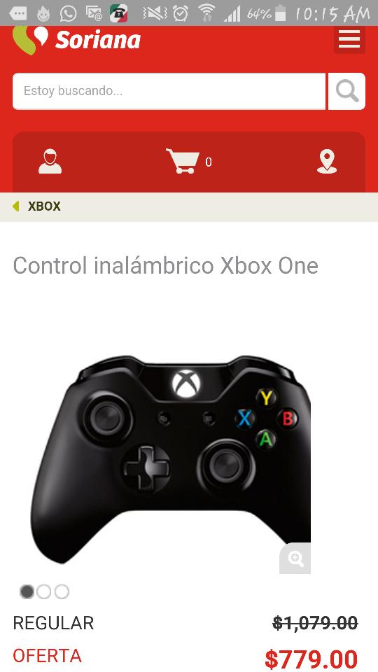 Soriana en línea: control inalámbrico Xbox One a $779