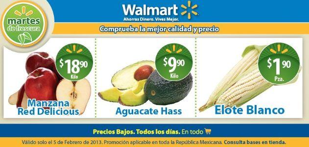 Martes de Frescura en Walmart febrero 5: agucate $9.90, manzana $18.90 y +