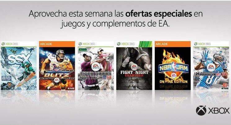 Juegos y complementos de Electronic Arts para Xbox 360 en oferta