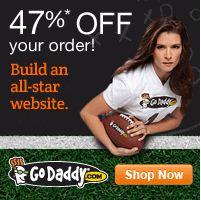 GoDaddy: 47% de descuento en toda tu compra. Además dominios .com a $2.99