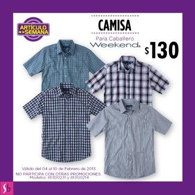Artículo de la semana en Suburbia: camisa para caballero $130